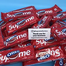 ✅Supreme oreo limited edition✅Ready to ship✅ (1 Pack, 3 Cookies)