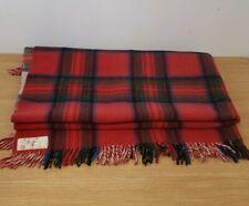 "Vintage Onkaparinga Pure Wool Tartan Blanket Red Blue Green approx 64"" x 59"""