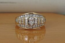 Ladies Marquise, Baguette, and Round Diamond Wedding Ring, 1 ct. Total Weight