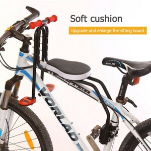 Safety Kids Bike Seat Child Baby Front Mounted Bicycle Seats Carrier + Handrails