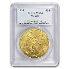 1930 Mexico Gold 50 Pesos MS-64 PCGS
