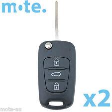 2 x KIA Soul Cerato Koup Sportage Sorento Flip Key Remote Shell/Case/Enclosure