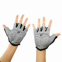 Men Cycling Bike Half Finger Bicycle Gel Padded Fingerless Non-Slip Sport Gloves