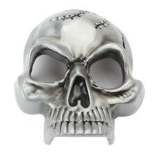 Vintage Metal Smooth Skull Belt Buckles for Western Cowboy Men's Accessories