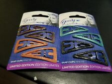 Two Goody Girl Colour Collection snap clips pinces Limited Edition 2 Packs