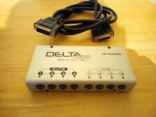 M-audio Delta Series Break Out Box 4 ins 4 outs 4x4 & serial cable