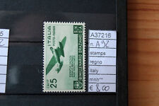 STAMPS FRANCOBOLLI REGNO ITALY MHN ** N. A92 (A37216)