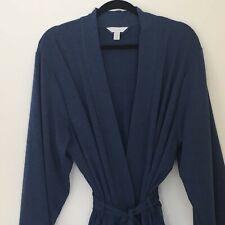 Charter Club Intimates Womens French Terry Kimono Robe XXXL 3X Blue Wrap Robe