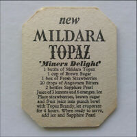 New Mildara Topaz Dry Brandy Miners Delight Coaster (B354)