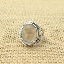 Ethnic Rutilated Quartz 925 Silver Ring UK Size P 1/2-US Size 8 Indian Jewellery