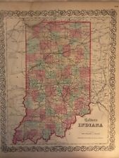 J.H Colton's 1855 Map of Indiana