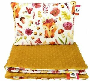 Baby Bedding Set For Cradle Prams Strollers Cotton Pillow Quilt Set Fox Flower