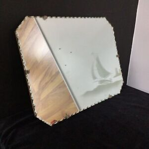 2 Vintage Wall Hanging Mirrors # 404