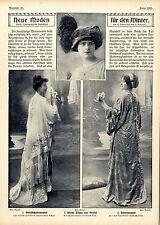 Neue Moden für den Winter Gesellschaft Historische Mode aus der Kaiserzeit 1910