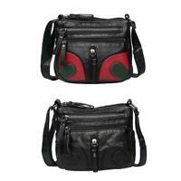 Vintage Soft PU Leather Handbags Casual Women Girls Shoulder Messenger Bags P4PM