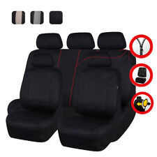 Universal Car Seat Covers Black Auto Seat Protector Neoprene Airbag for SUV VAN
