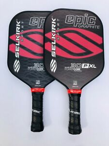 *BUNDLE* Selkirk Sport Pickleball Paddle Epic 30P Crimson Coal New