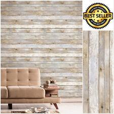 Reclaimed Wood Distressed Panel Wood Grain Self-adhesive Peel-stick Wallpap Xxl