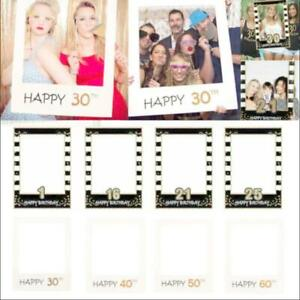 Anniversary Selfie Photo Booth Frame Props Paper Wedding Birthday Party Supplies
