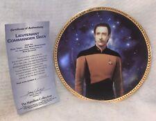 1994 Hamilton Collection Star Trek Lt Commander Data Collector Plate Coa 3954d