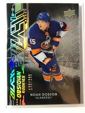 2019-20 UD Black Obsidian Rookies Noah Dobson Islanders /299