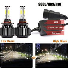 9005 HB3 High Beam LED Headlight Bulbs180W 20000LM Conversion Kit  6500K CANBUS