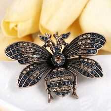 Crystal Antique Gold Gp Party Gift Retro Honey Bee Animal Brooch Pin Austrian