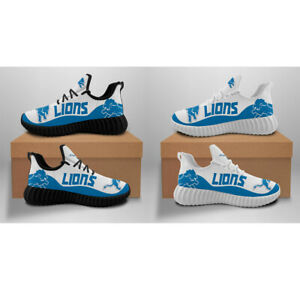 Detroit Lions Fans Lightweight Breathable Sneakers Gym Hiker Outdoor Sport Shoes
