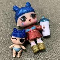 2pcs LOL SURPRISE AUTHENTHIC DOLL *KAWAII QUEEN & Lil Sister TOYS GIFT