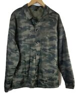 Divided Mens Camouflaged Jacket XL Size Extra Large Green Water Resistant
