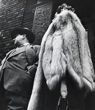Leon LEVINSTEIN: Suit & Fur, NYC, 1954 / SILVER / Printed c. 1980 / STAMPED!