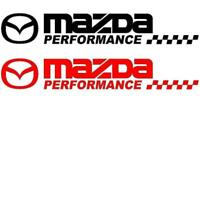 2 x MAZDA SPORT  CAR STICKERS DECAL 300mm x 46mm  IN VARIOUS COLOURS  RX8 MX5