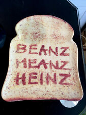 More details for beanz meanz heinz plate official heinz product unusual slice of toast art design