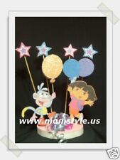 Dora and Boots  Birthday Party Cake topper w/stars
