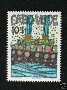 Kap Verde, Friedensreich Hundertwasser Mi. Nr. III  **  / MNH nicht verausgabt