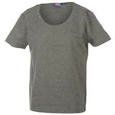 BOYS LEE COOPER SCOOP NECK GREY MARL T-SHIRT AGE 11-12/12-13 YEAR BNWT RRP £9.99