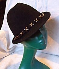'CHA - CHA'S HOUSE OF ILL REPUTE' - BLACK WOOL STYLISED TRILBY HAT CHIC STYLISH