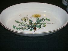 Villeroy Boch Botanica Porcelain Taraxacum officinale Large Oval Oven Bake Dish