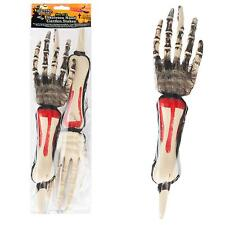 "2pc 14"" Halloween Spooky Scary Skeleton Hands Arm Garden Stakes Party Decoration"