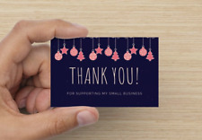 Winter / Christmas Thank you for supporting my small business cards