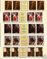 RUSSIA 1979 Sc 4786-4790 ART PAINTINGS SET OF 5 STAMPS w/Labels FULL STRIP MNH