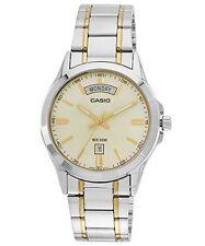 Casio #MTP1381G-9AV Men's Two Tone Stainless Steel 50M Gold Watch