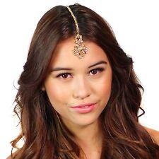 Kristin Perry Floral Crystal Tikka Chain Headpiece