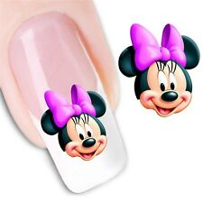 NAIL Art Adesivi Decalcomanie acqua trasferimento adesivi MINNIE & MICKEY MOUSE (dx1238)