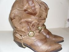 WOMENS/GIRLS LEATHER WESTERN BOOTS SIZE 7M NICE!!