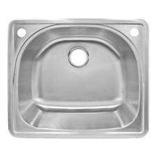 """25"""" x 9"""" Deep Kitchen sink Top Mount Stainless Steel LT91 by LessCare"""