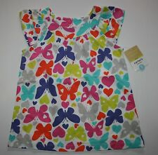 New Carter's Bright Multi-Color Butterfly Swing Top Size 5 Year Nwt Summer Top