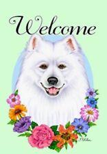 Outdoor Garden Flag Samoyed Dog Breed Welcome Small Garden Flag made Usa
