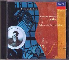 Eduardo FERNANDEZ: Fernando SOR Grand Solo Guitar Sonata Etude Les Adieux CD