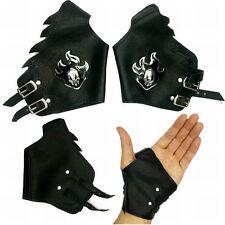 Anime Bleach Kurosaki Ichigo Silver Leather Gloves Punk Cosplay Prop Gift 1 Pair